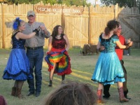 Dancing with men from the audience