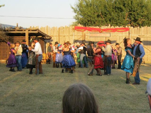 Partners dancing