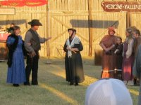 Carrie Nation talking to the sheriff