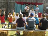 Magician demonstrating tricks