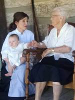 young woman, old woman, and baby
