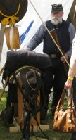 Man at cavalry encampment