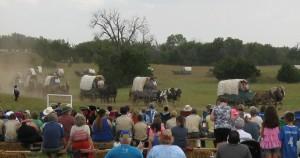 Peace Treaty Pageant wagon train