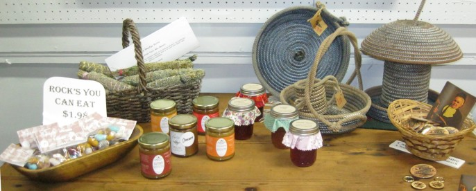 Edibles and rope baskets